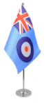 RAF Ensign Desk / Table Flag with chrome stand and base